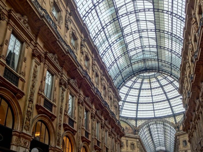 Detalhe da arquitetura - Galleria Vittorio Emanuele II