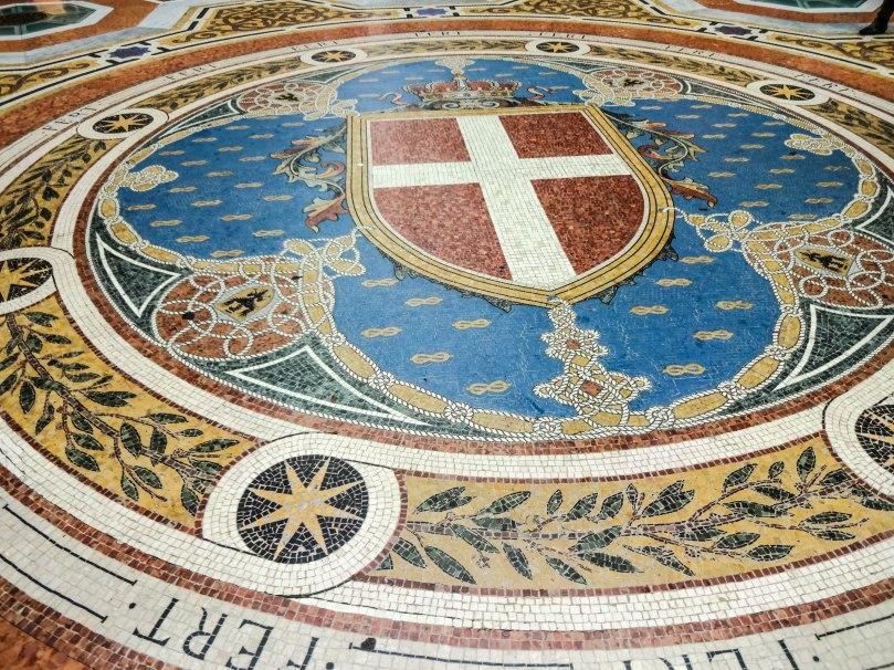 Detalhe do piso - Galleria Vittorio Emanuele II