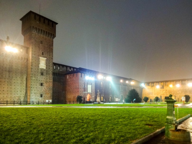 Pátio do Castello Sforzesco
